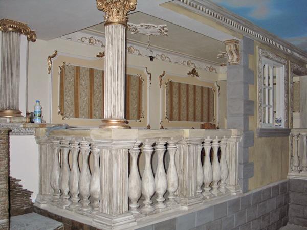 отделка балкона гипсом